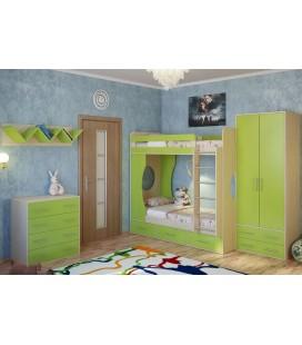 двухъярусная кровать Милана-1 и модули детской Милана